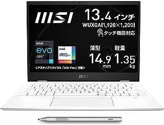 """【タッチ機能対応・薄型軽量】MSIビジネスノートPC SummitE13 1.35Kg i7 IrisXe/13.4""""/タッチ対応/16GB/512GB/英語キーボード/Summit-E13FlipEvo-A11MT-061JP"""