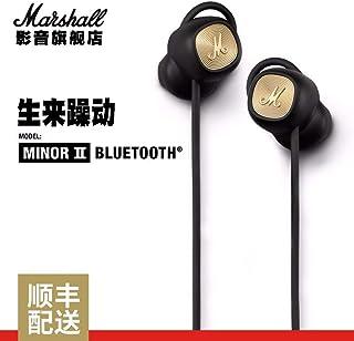 Marshall 马歇尔 MINOR II 无线 蓝牙 入耳式 耳机 黑色 默认开具电子发票 可开专票