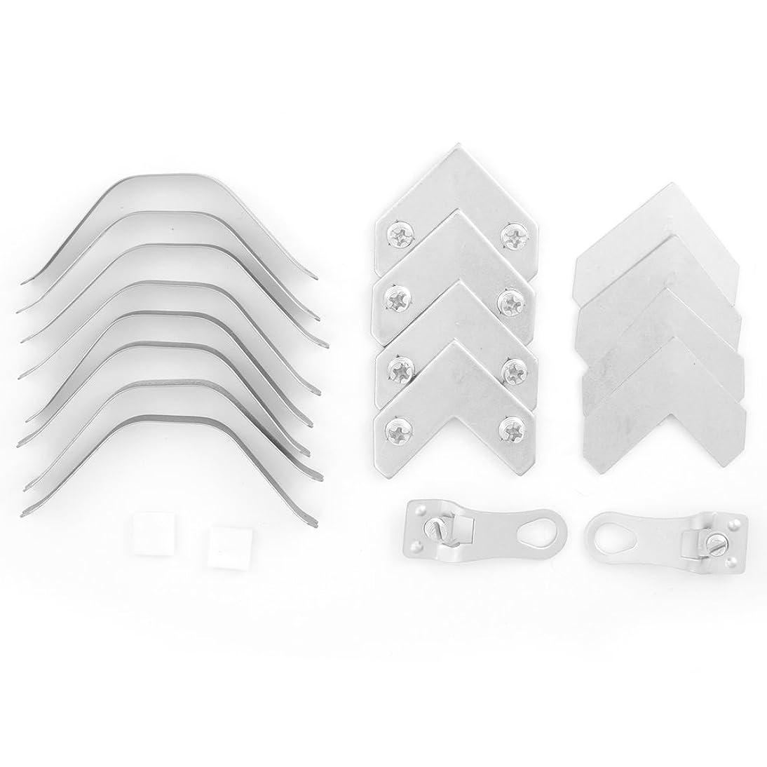 Metal Picture Frame Hardware - Bulk Pack for Assembling 5 Frames