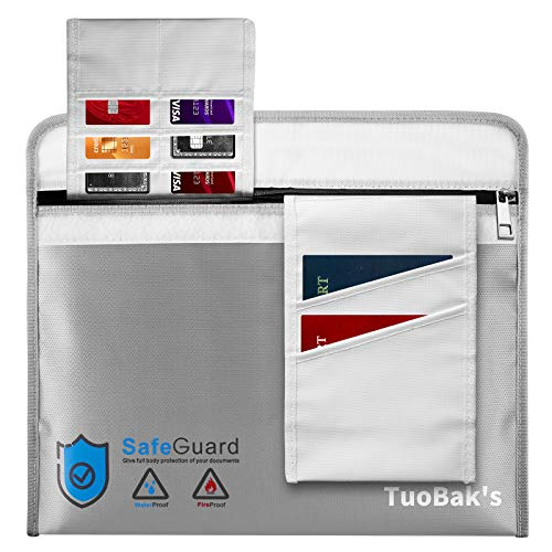 Bolsa Ignifuga Impermeable | Bolsas Ignifugas Documentos | Bolsa Ignifuga Dinero de Silicona Mejorada para Documentos A4apta para,Efectivo, factura,iPad,teléfono móvil(40 x 28 cm)