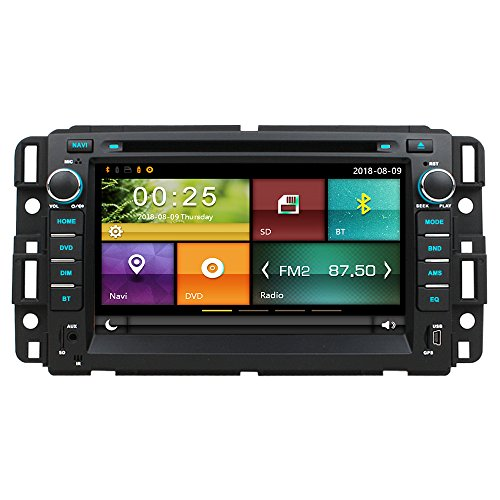 Maxtrons Car DVD GPS Navigation Stereo Headunit Radio for Chevrolet Chevy Tahoe Avalanche Suburban Silverado Impala Ma HHR 3500 GMC Acadia Yukon Sierra Steering Wheel Control Free Reverse Camera