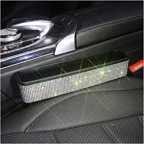Kun yi Rhinestones Asiento de coche Caja de almacenamiento Caja de almacenamiento Taza de Taza Tarjeta de llave de teléfono Auto Backsat Organizadores de colgantes Asientos de asientos Bolsillos de Ga