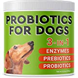 Pawfectchow Probiotics for Dogs + Natural Digestive Enzymes - Made in USA - 2 Billion CFUs Prebiotics Chews - Diarrhea, Gas, Constipation Relief - Improve Digestion, Allergy, Immunity, Hot Spots