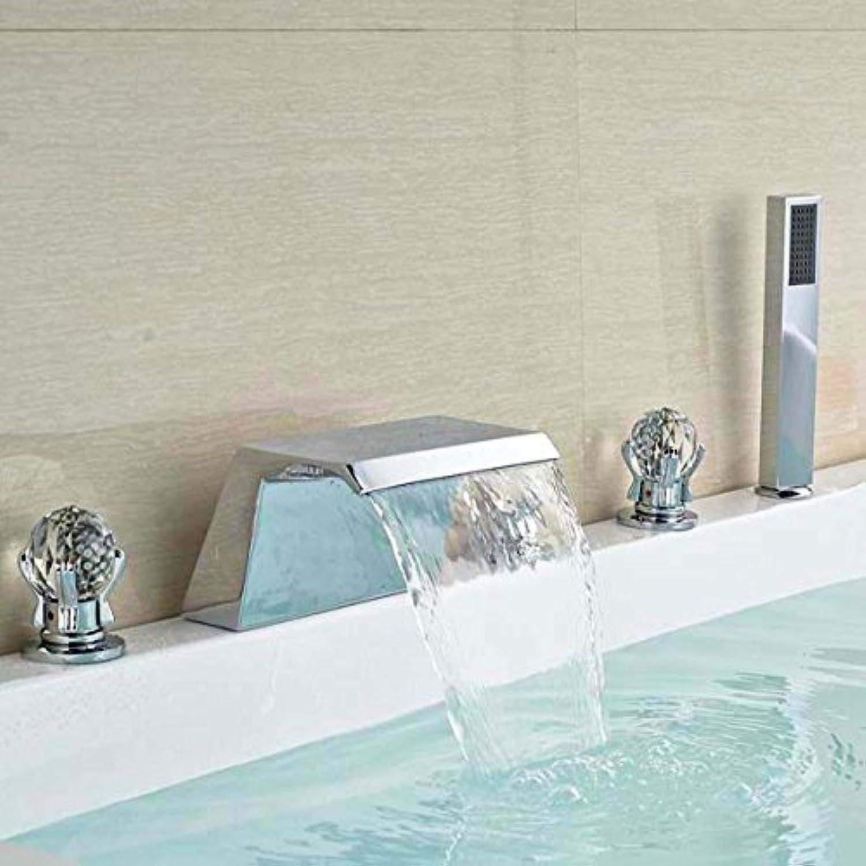 Luxurious shower Moderne Bad Badewanne Armatur Waschbecken Mischbatterie Dusche Wasserhahn Set Messing verchromt, Wei