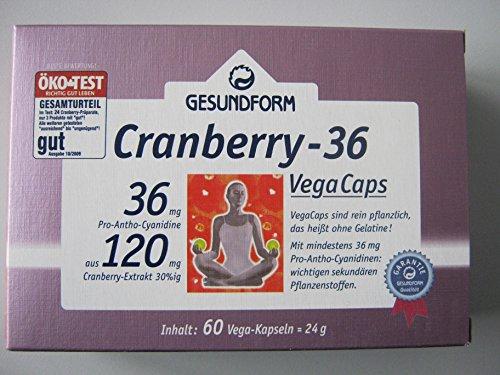 GESUNDFORM Cranberry 36 Kapseln 60 Stück