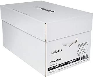 $39 » Just Basics Copy Paper, Letter Paper Size, 92 Brightness, 20 Lb, White, 500 Sheets Per Ream, Case of 10 Reams
