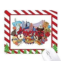 イーグルバーガーアメリカ 落書き自由 ゴムクリスマスキャンディマウスパッド