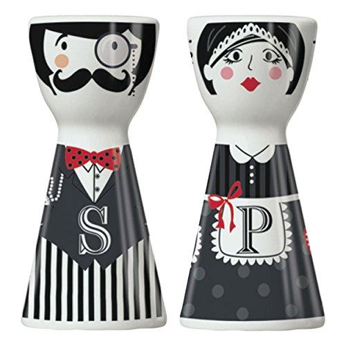 RITZENHOFF Mr. Salt & Mrs. Pepper Salz- und Pfefferstreuer von Kathrin Stockebrand, aus Porzellan, mit trendigen Motiven