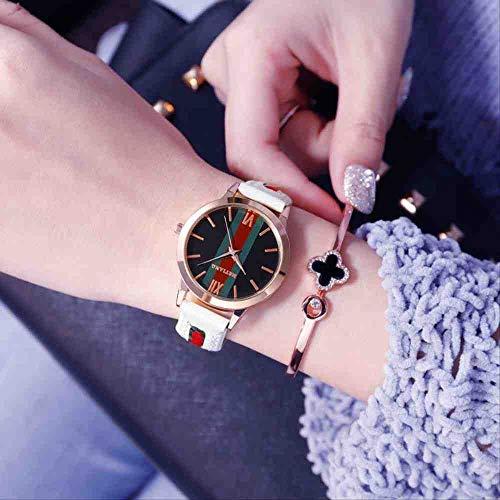 DSNGZ Reloj de Pulsera New Trend Fashion Simple Temperament - Reloj de Cuarzo para Mujer, Blanco