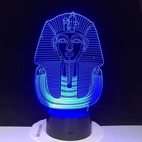 Religiöse ägyptische Sphinx 3D Illusion Lampe,3D Illusions Nachtlicht,mit 7 Farben Ändern und Fernbedienung für Mädchen Junge Kinder für Geburtstagsferien