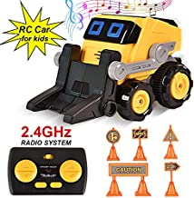 BIBIELF Mini Remote Control Car for Kids, RC Stunt Car with Dancing Music and Demo Program, STEM Toys Birthday for Boys and Girls (Forklift Car Toy)