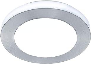 Badkamerlamp, badkamerlamp & lamp voor de badkamer badkamer LED IP44 klassiek tijdloos geborsteld aluminium wit kunststof ...