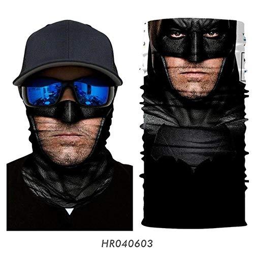 A-HXTM Multifunktionales Kopftuch 3D Marvel Stirnband Hals Gamasche Magic Scarfs Winddichte Jagd Camping GesichtNahtloses Bandana