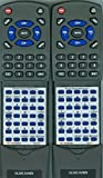2 Replacement Remotes for Toyota Sienna or Highlander Dual View DVD 2014, 2015, 2016, 2017, 2018, 2019, 2020