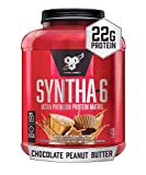 BSN SYNTHA-6 Whey Protein Powder, Micellar Casein, Milk Protein Isolate Powder, Chocolate Peanut Butter, 48 Servings (Packaging May Vary)