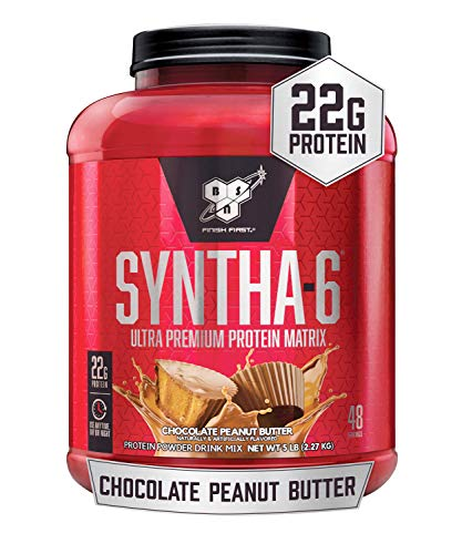 BSN SYNTHA6 Whey Protein Powder Micellar Casein Milk Protein Isolate Powder Chocolate Peanut Butter 48 Servings Packaging May Vary