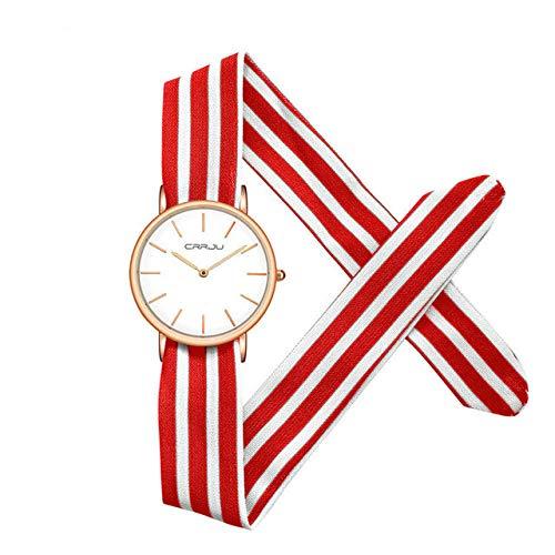 horloges,Uniek Dames Dameshorloge, Mode Damesjurk Horloge Stoffen Horloge, Lief Meisjes Armbandhorloge