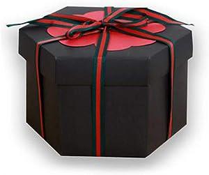 fanmaosdf Hexagon Explosion Box DIY Craft Photo Album Romantic Anniversary Birthday Gift