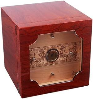 HUIJINCHAOSHI Cigarette Box, Cedar Wood Cigar Box, Eco-painted Cigar Box, Three-layer Large-capacity Cigar Box. Fashion