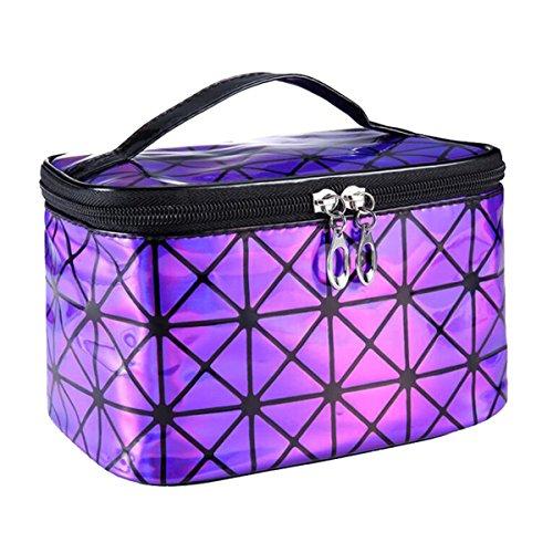 Women Portable Travel Cosmetic Bag Makeup Bag Waterproof PU Leather Handy Toiletry Bag