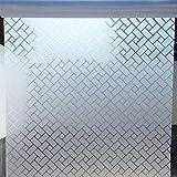 LMKJ Película de Ventana esmerilada de celosía Pegatina antiestática esmerilada película Decorativa autoadhesiva de privacidad película de Vidrio para decoración del hogar A48 60x200cm