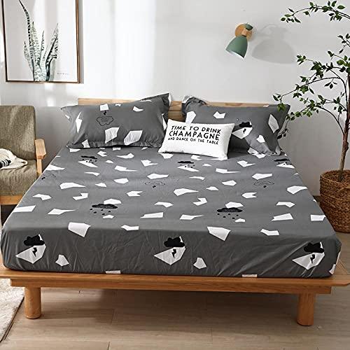 CYYyang colchón Acolchado, antialérgico antiácaros, Sábana Impermeable de un Solo Producto Hotel-8_150cm × 190cm
