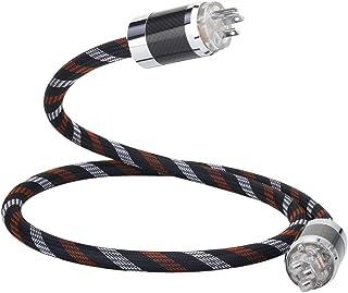 HiFi Audiophile Power Cord 125V 15A, Hi End Amplifier Power Cord, Audio AC Power Cable with Carbon Fiber US Plug+IEC320 C1...