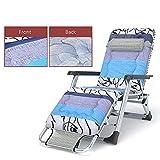 DBWIN Übergroße, extra breite Liegestuhl mit gepolstertem, verstellbarem Sonnenliegestuhl für...