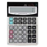 Exliy Calcolatrice, calcolatrice da Tavolo con Display LCD a 16 cifre, Doppia Alimentazione Calcolatrice Grande, calcolatrice Tascabile Standard Adatto per Ufficio, finanza