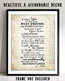'I Take YOU- Best Friend, Partner, True Love'- Wedding Vow Print- 8 x 10'- Parchment Wall Art Print-Ready to Frame. Perfect For Spouse, Life Partners & BFF's. Great Engagement-Bridal-Wedding Gift.