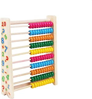 Wooden Abacus Beads Wooden Toys Cognitive Learning Shelf Math Educational Toys,Math Toys for preschoolers