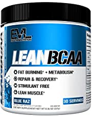 Evlution Nutrition LeanBCAA BCAA CLA And L-Carnitine Recover And Burn Fat Sugar And Gluten Free, 30 Servings