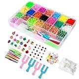 ONECK Elastico Bands Kit 6800 DIY Elastici Colorato Nastri Box per Lavorare a Maglia Giocattolo per bracciali Collana per Bambini