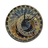 Reloj de pared silencioso, 30 x 30 cm, diseño de Praga astronómico en estilo steampunk, reloj rústico de decoración del hogar, fácil de leer