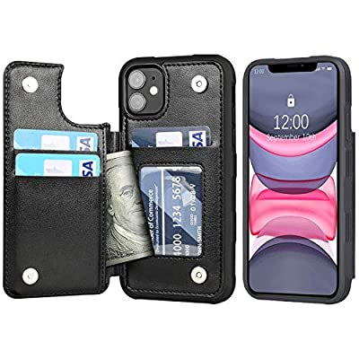 Arae Case for iPhone 11 PU Leather Wallet Case ...