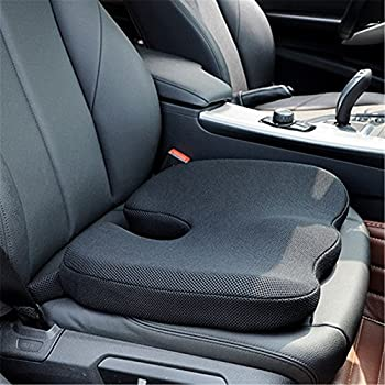 Car Seat Cushions High-Density Pad for Car Driver Seat Office Chair Wheelchair Coccyx Support Hip Nerve Sciatica Sacrum Back Pain Relief Memory Foam Seat Cushion