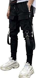 Techwear Urban Streetwear Multi-Pocket Tactical Track Pants Black Joggers