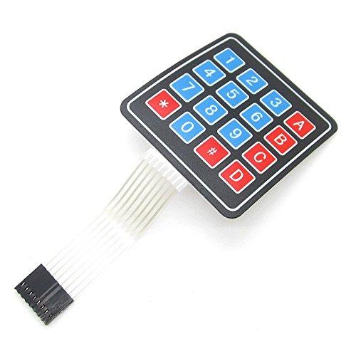 2pcs matriz matriz 4x 416Claves Interruptor de Membrana 8pines Conector Switch Teclado para Arduino/AVR/PIC