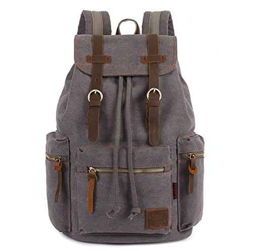 Hommes Femmes Randonnée Camping Voyage Sac à dos Loisirs sacs à dos Canvas rétro Rucksack avec une grande capacité 27 cm (L) x41 cm (H) x16 cm (W)