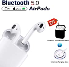 Bluetooth Headphones Wireless Earbuds with Wireless Charging Box Noise Reduction HD Stereo in-Ear Earbud for Android/iPhone airpod and Apple airpods 2/airpod 2 Waterproof Sports Earphones