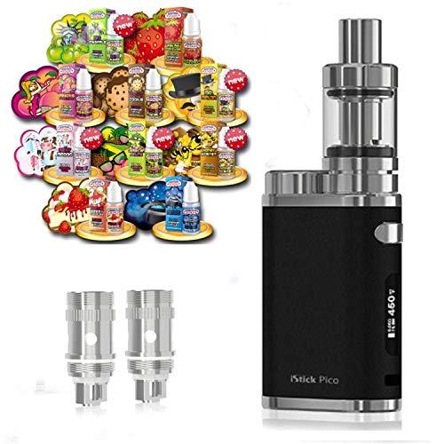 Anfänger XXL Set E-Zigarette SC produced by Eleaf Pico | iStick 75W Starterset Schwarz 2600mAh | TC (Temperaturregelung) | mit 10 x SC Liquids - 00mg Rauchen ohne Nikotin