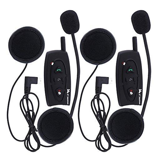 V2500M BT Interphone Bluetooth moto casco intercomunicador auricular intercomunicador estéreo Música–2pcs