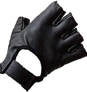 Bikers Gear Australia Fingerless Leather Motorcycle Cruiser Gloves