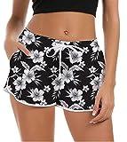 Fanient Pantaloncini da Bagno alla Moda da Donna Pantaloncini da Mare Stampati alla Moda Boardshorts da Spiaggia alla Hawaii Stili graziosi Pantaloni da Yoga da Allenamento con Cintura Elastica
