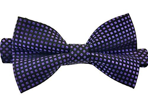 Louis Binder de Luxe Fliege Aufbewahrungsbox Schlips Querbinder Schleife Mascherl Krawattenschleife 211 lila schwarz