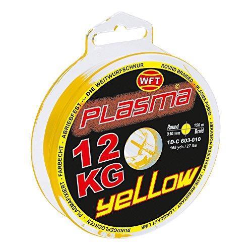 WFT KG Plasma Round 150m geflochtene Schnur 0,08mm-0,36mm, Durchmesser:0.12mm, Farbe:Gelb