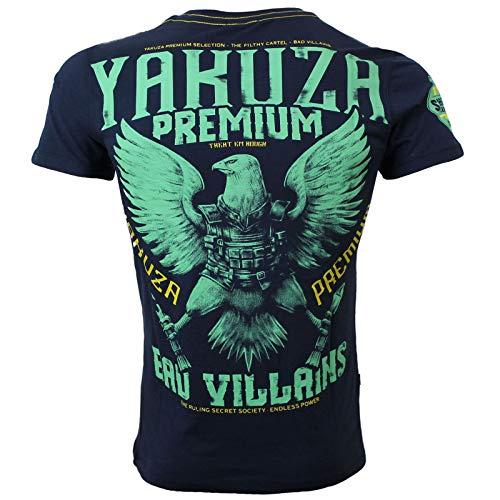 Yakuza Premium Herren T-Shirt 2901 Navy dunkelblau Größe XXL