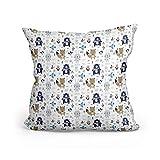 Funda cojin - Funda Almohada Bebe de algodón Fundas de Cojines Decorativos para niños cojin Infantil (Motivo Animal, 40 x 40 cm)
