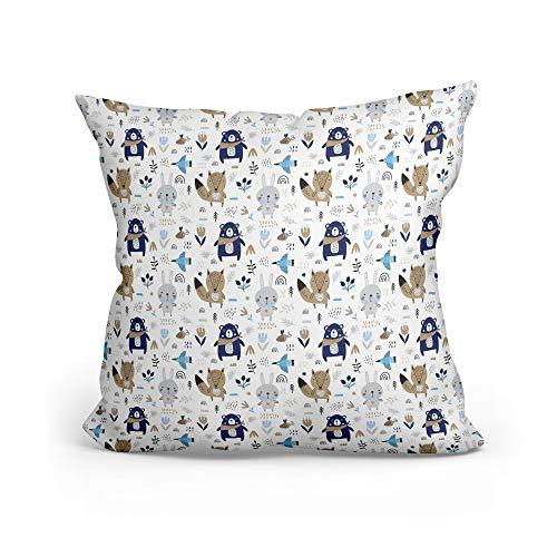 Funda cojin - Funda Almohada Bebe de algodón Fundas de Cojines Decorativos para niños cojin...