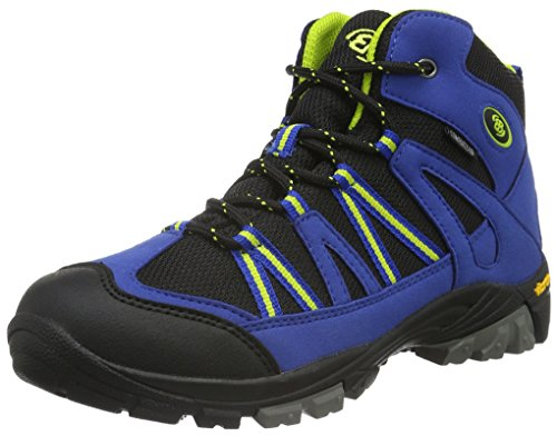 EB kids OHIO HIGH, Jungen Trekking- & Wanderstiefel, Blau (Blau/schwarz/lemon), 34 EU (2 Kinder UK)
